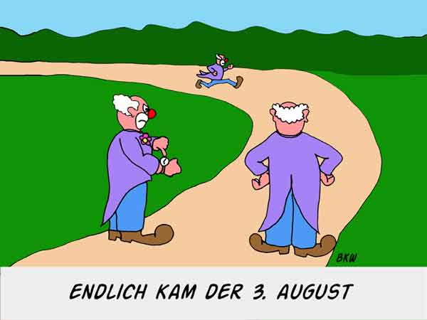 Karikatur: Der 3. August