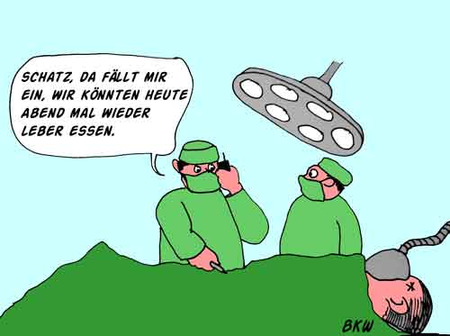 Cartoon Operation und Chirurg